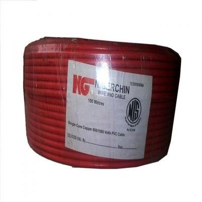 NigerChin 16mm Single Core Copper Wire - Red-0