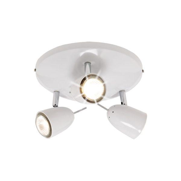 3 Arm Spot Dome White-0