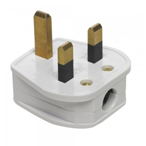 3 Pin Plug With Fuse White 5amp-0