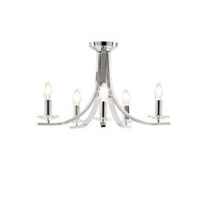 5 Arm Chandelier Chrome Ceiling Light Fitting-0