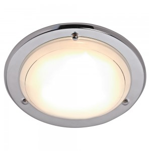 Flush Fitting Ceiling Light Chrome Effect-0