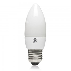 General Electric GE Energy Saving Candle Light Bulb E27 ES 7W/300lu-0