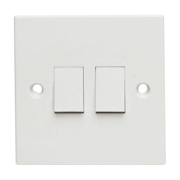 Light Switch 2 Way, 2gang-0