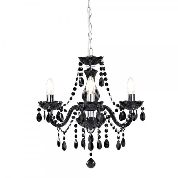 Marie Therese Chandelier Black 3 Arm-0