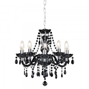 Marie Therese Chandelier Black 5 Arm-0