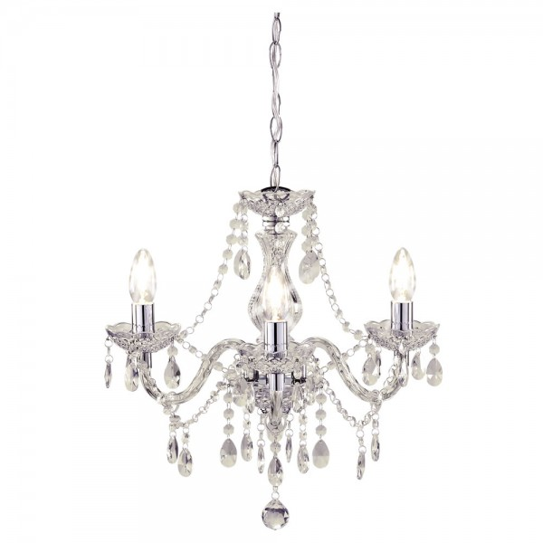 Marie Therese Chandelier Clear 3 Arm-0