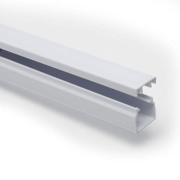 Mini Trunking PVC Self Adhesive White 2mx16mmx16mm-0