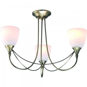 Nottingham 3 Light Fitting Antique Brass-0