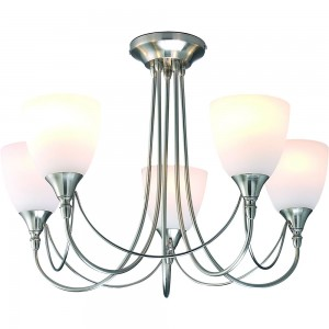 Nottingham 5 Light Fitting Satin Chrome-0