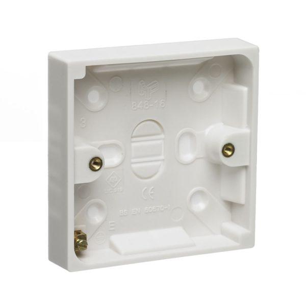 Pattress Box White 1 Gang 16mm-0