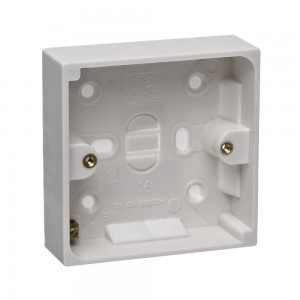 Plastic Pattress Box 25mm 1 Gang-0