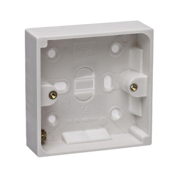 Plastic Pattress Box 2 Gang 25mm-0