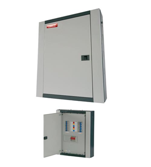 Powertec 4 Way 100A Three Phase(TPN) Distribution Board C/W MCB-0