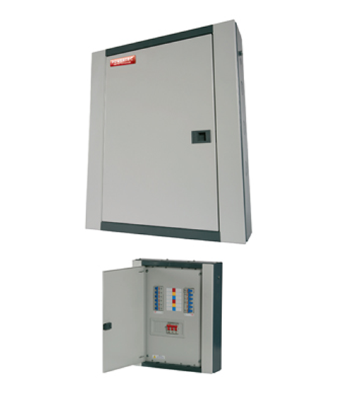 Powertec 6 Way 100A Three Phase(TPN) Distribution Board C/W MCB-0
