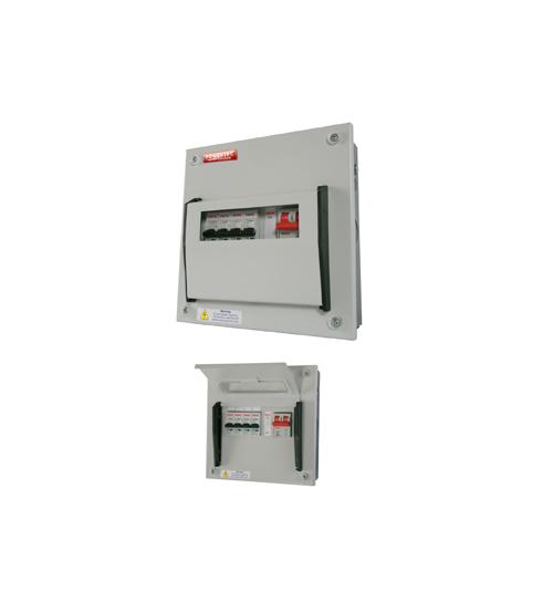 Powertec 8 Way 100A Single Phase Consumer Units DB C/W MCB-0