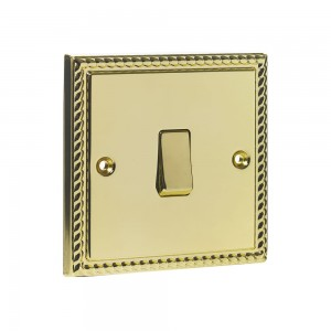 Single 2-Way Switch Brass-0