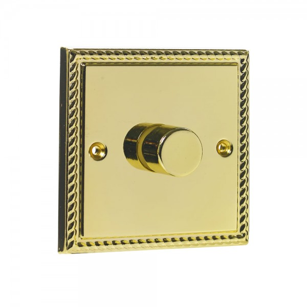Single 400W Dimmer Brass-0