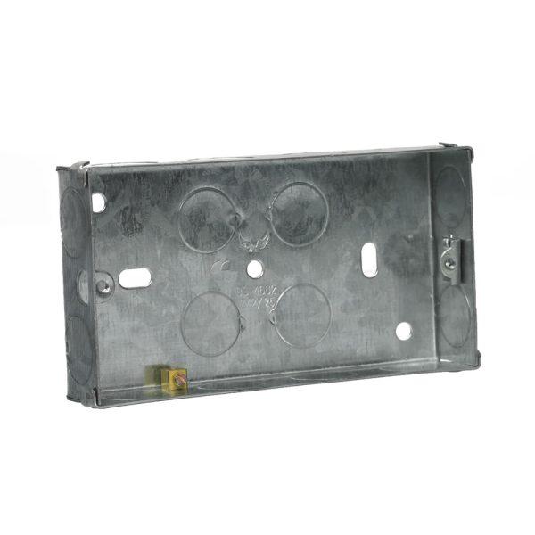 Socket Box Metal 2 Gang 25mm-0