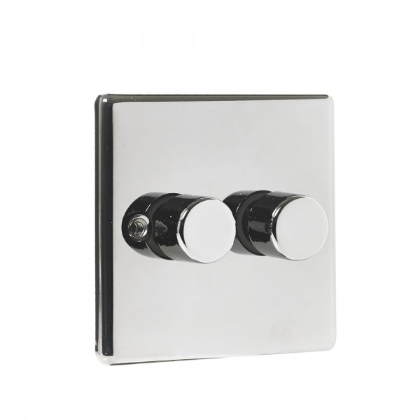 Twin 400W Dimmer Black Nickel-0